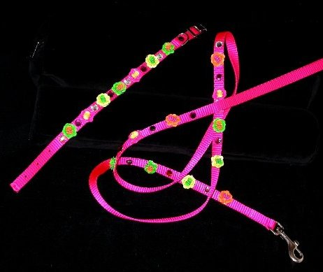 NEON PINK ,GREEN, YELLOW SEQUIN  & RHINESTONE SET
