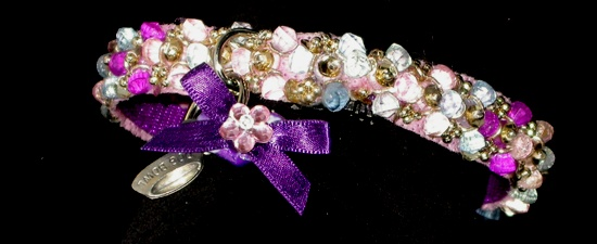 Multi Lavender Beaded Jewels Galore Collar
