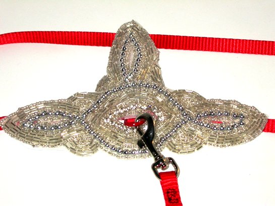 Beaded Silver Harness