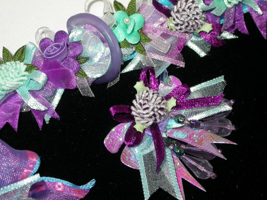 Spring Flowers Ribbons and Bows Collar
