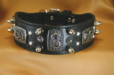 Northern Midgaard Leather Dog Collar
