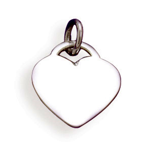 HEART DOG TAG STERLING SILVER